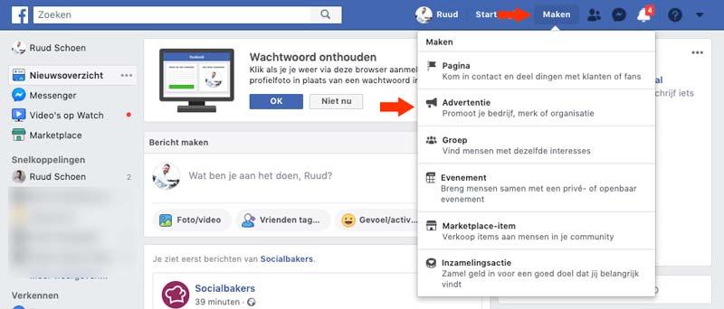 Facebook-advertentiebeheer