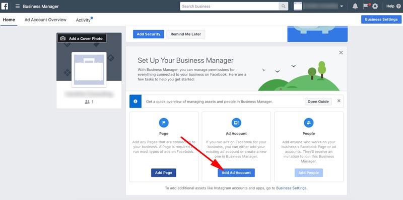 Facebook-bedrijfsmanager