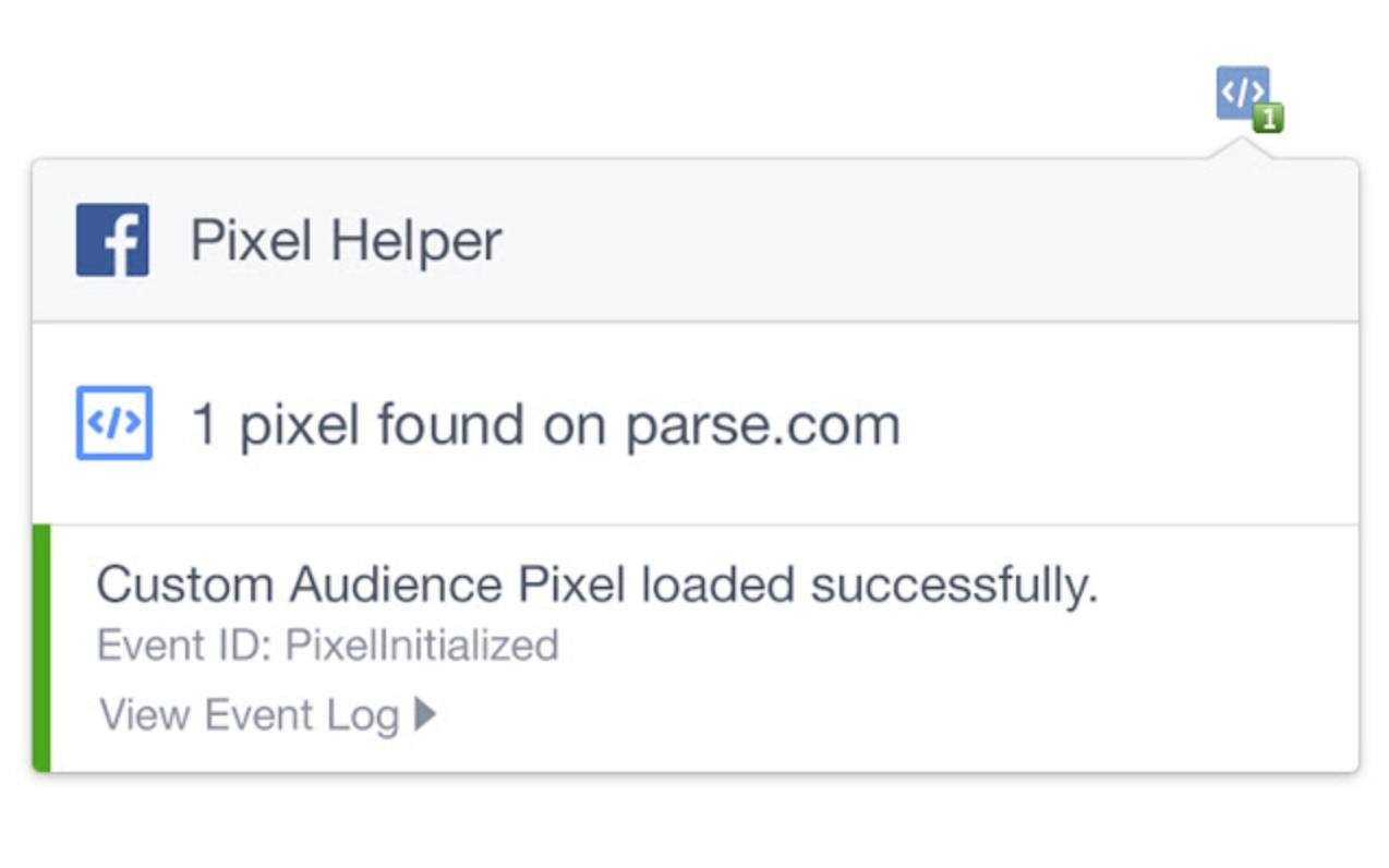 Facebook Pixel Helper Ontvouwt Voorbeeld
