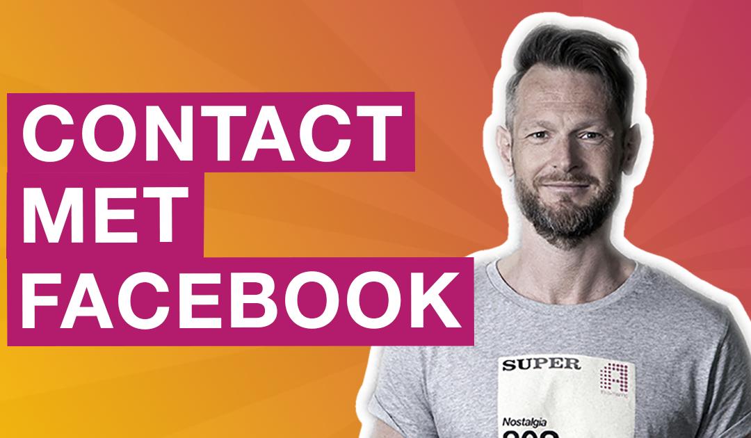 Hoe krijg je contact met Facebook